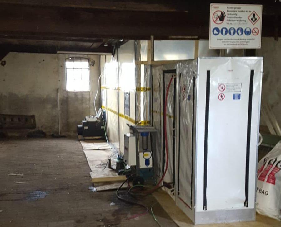 Asbest schuur verwijderen